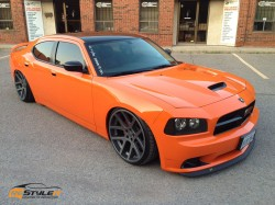 Fire Orange Dodge Charger