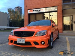 Burnt Orange Mercedes C63