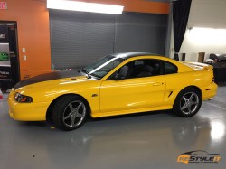 Sunflower Yellow Ford Mustang