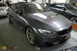 BMW M4 full hood, fenders, bumper clear protection and carbon fiber mirrors