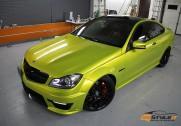 Electric Lime Mercedes C63