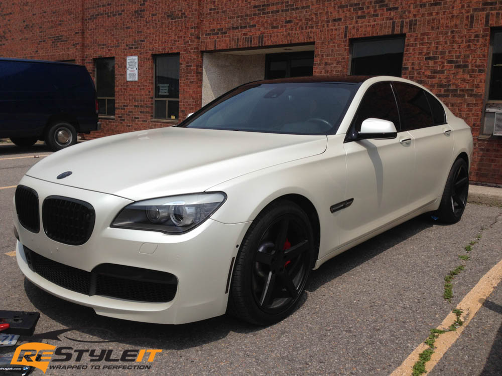 Bmw 7 Series Satin Pearl White Vehicle Customization Shop