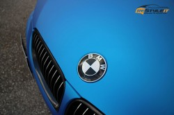 Matte Blue Aluminum BMW 3series