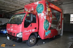 Lindor truck advertising wrap