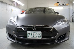 Matte Dark Grey Tesla Model S