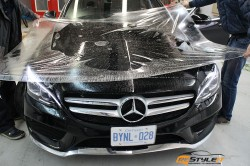 2016 Mercedes C300 full front end clear protection and window tint