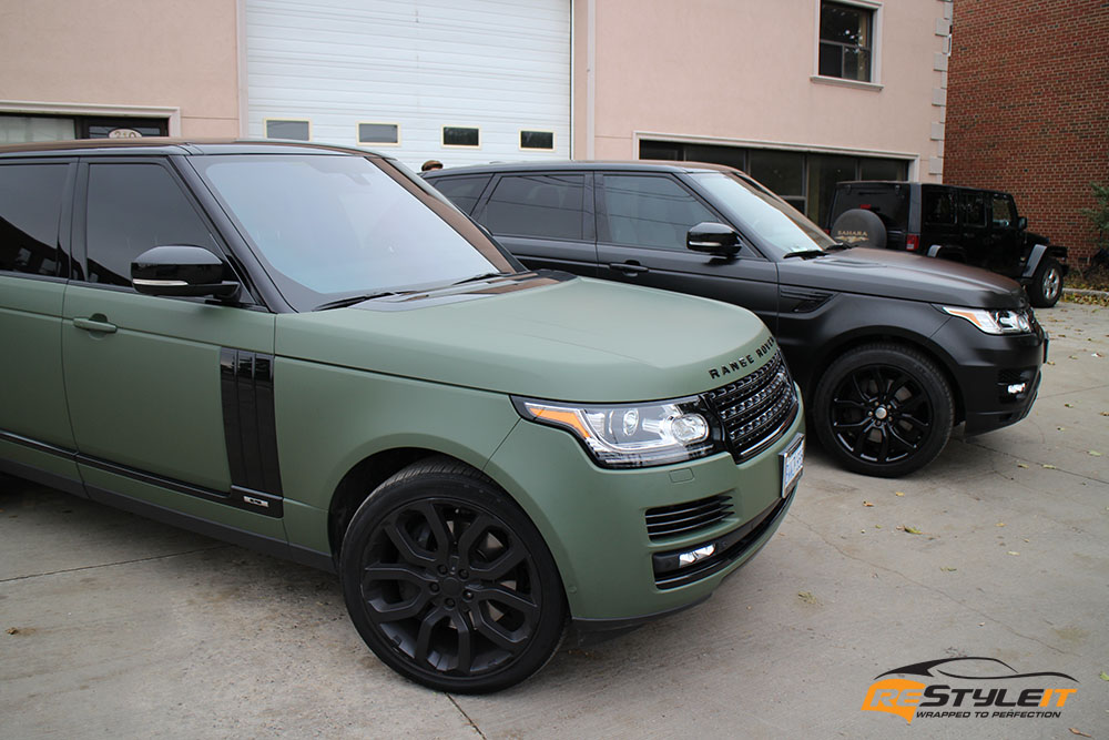 Cheap Car Tires >> Matte Military Green Range Rover Full Size | Vehicle ...