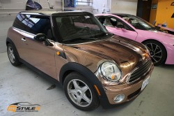 Rose Gold Mini Cooper