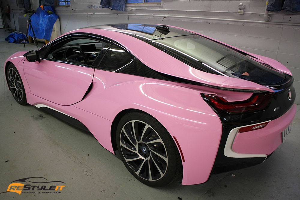 Gloss Pink Bmw I8 Vehicle Customization Shop Vinyl Car Wrap