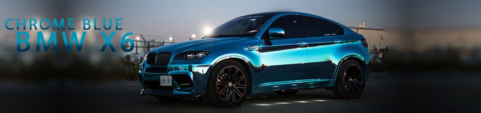 Chrome Blue BMW X6