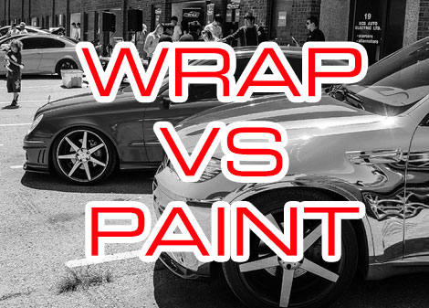wrap vs paint