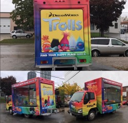 TROLLS MOVIE PROMOTIONAL TRUCK