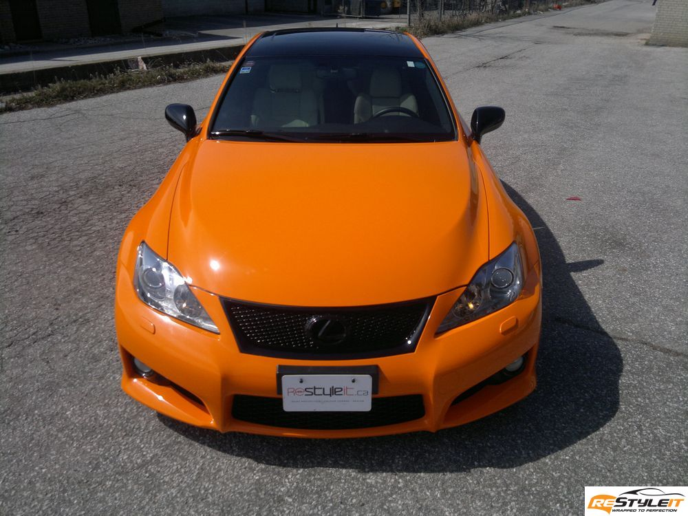 Gloss Orange Wrap Lexus Isf Vehicle Customization Shop