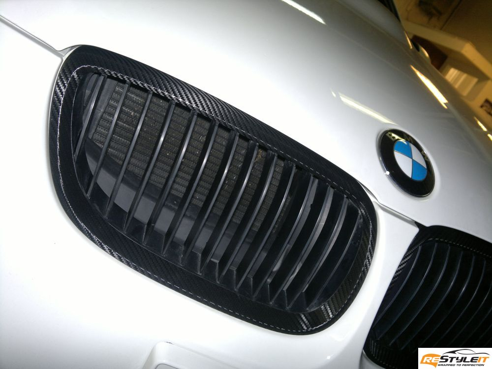 Bmw M3 Carbon Fiber Side Markers And Kidney Grills Wrap