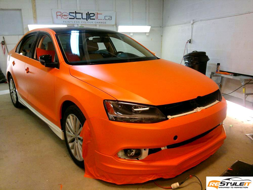 Matte Orange Volkswagen Jetta Tdi Vehicle Customization